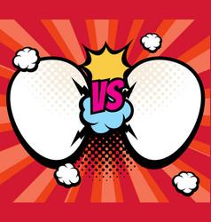 Slag versus vs battle background with empty vector