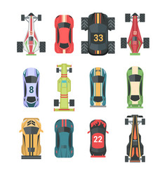 Sport and racing cars - set of modern vector