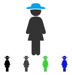 Standing lady flat icon vector