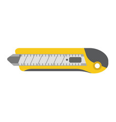 stationery knife flat icon build and repair vector image