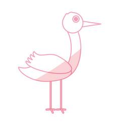 Stork bird cartoon vector