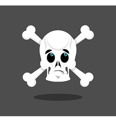 Surprised skull emotion Crossbones Discouraged vector