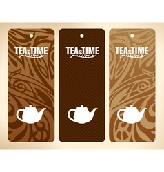 tea time banners vector image