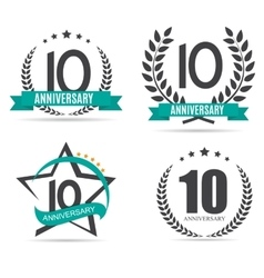 Template Logo 10 Years Anniversary Set vector