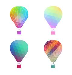 The air balloon colorful icon vector