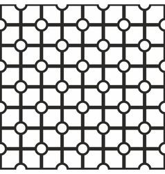 Tile black and white geometric pattern background vector image