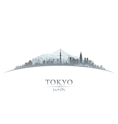 Tokyo Japan city skyline silhouette vector image