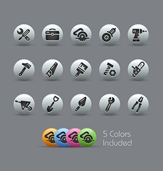 Tools Icons Pearly Series vector image