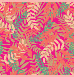 tropical leaves seamless pattern on bright vector image