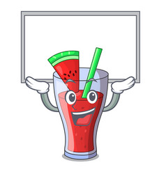 Up board character tasty beverage fruit watermelon vector