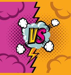 versus cartoon comic book background vector image