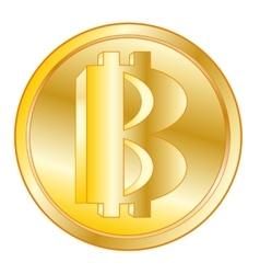 Virtual coin bitcoin vector