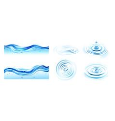 water ripple set vector image