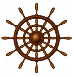 wooden steering wheel vector image vector image