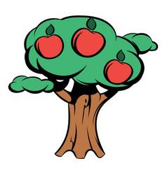 apple tree icon cartoon vector image