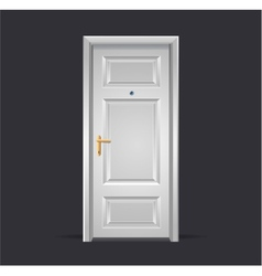 Interior apartment white door isolated on black vector image vector image