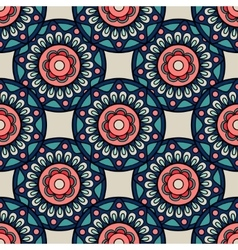 Retro colors boho hand drawn seamless background vector image vector image