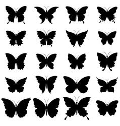 Set of butterflies for design vector image