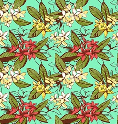 Tropical floral summer seamless pattern with vector image vector image