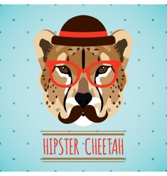 Animal hipster portrait vector