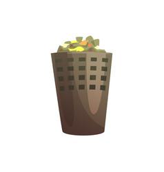 Indoor trash bin waste processing and utilization vector