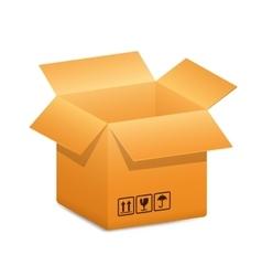 open-box-blue-arrow vector image vector image