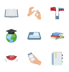 teaching chinese in russia translation of the vector image vector image