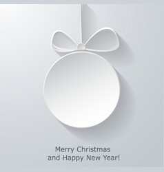 Xmas greeting card with abstract paper Christmas vector image vector image