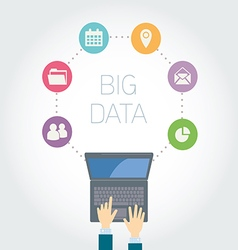 Analyst Big data icons vector image vector image