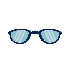 cartoon glasses accessory fashion protection icon vector image vector image