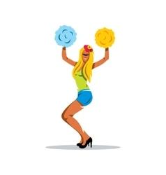 Cheerleading Cartoon vector image