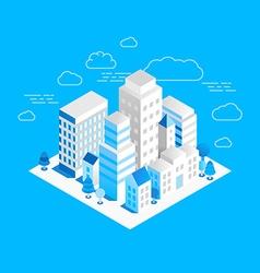 city landscape isometric vector image