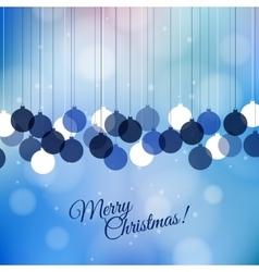 Merry Christmas retro card design Perfect vector image vector image