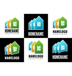 Set logos house vector image
