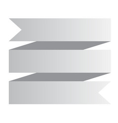 white ribbon banner on white background white vector image vector image