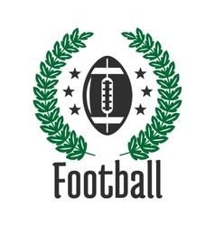 American football team heraldic badge with ball vector