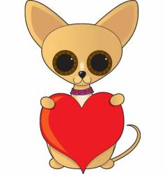 Chihuahua valentine vector image vector image