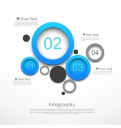 Circle design infographic vector image