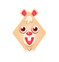cute geometric rabbit animal colorful cartoon vector image vector image