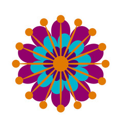 decorative asian flower vector image