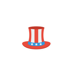 flat icon uncle sam element vector image vector image