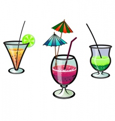 party cocktails vector image