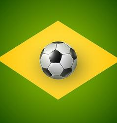 Soccer ball of Brazil 2014 vector image vector image