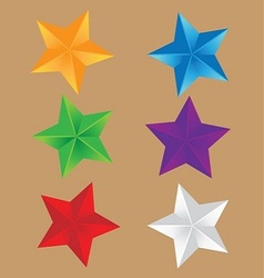 6 shiny stars vector