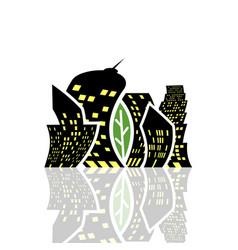 a modern ecological city vector image
