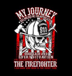 American firefighter vector