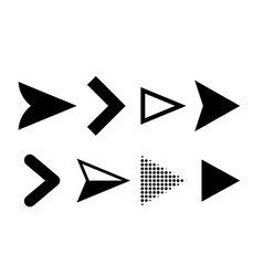 Arrow icons direction pointers symbols vector