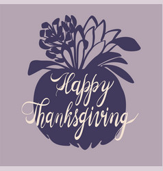 autumn thanksgiving day concept background simple vector image