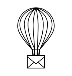 balloon air hot with envelope vector image