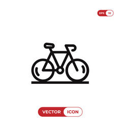 bicycle icon vector image